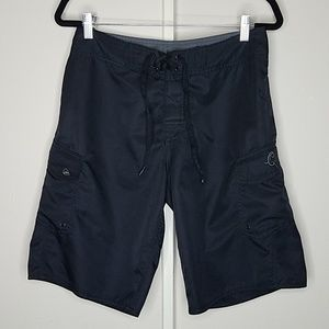 Quiksilver size 30 polyester  black surf trunks